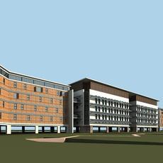 Architecture 479 office Building 3D Model