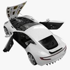 Aston Martin One-77 2010 3D Model