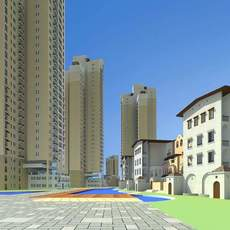 Architecture 515 High Rise Residential Building 3D Model