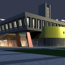Architecture 514 Commercial Building 3D Model