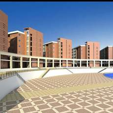 Architecture 518 High Rise Residential Building 3D Model