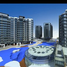 Architecture 520 High Rise Residential Building 3D Model