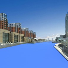 Architecture 524 High Rise Residential Building 3D Model