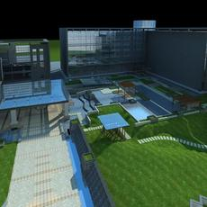 Architecture 526 office Building 3D Model