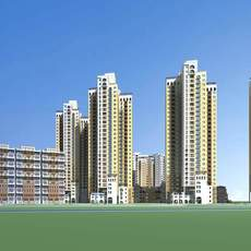 Architecture 529 High Rise Residential Building 3D Model