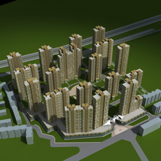 Architecture 562 High Rise Residential Building 3D Model