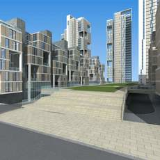 Architecture 605 multilayer Residential Building 3D Model
