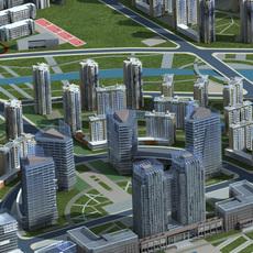 Architecture 622 Office Block Building 3D Model