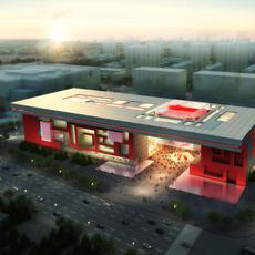 Architecture 059 -Mall building 3D Model