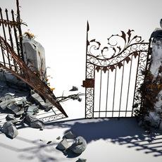 broken ornamental gate 3D Model