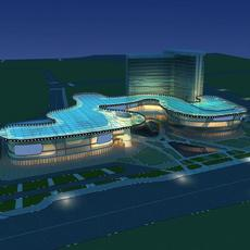 Architecture 651 Mall Building 3D Model