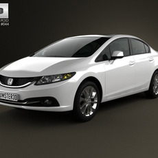 Honda Civic sedan 2013 3D Model