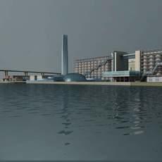 Architecture 673 Factory Building 3D Model