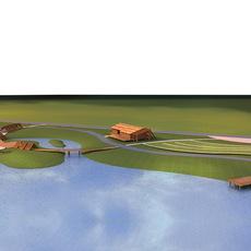 Architecture 682 Landscape Building 3D Model