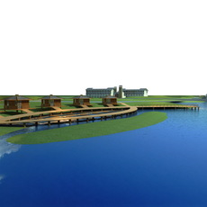 Architecture 683 Landscape Building 3D Model