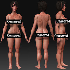 Buy Female and Male Characters 3D Model