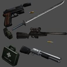Weapons Pack 3D Model