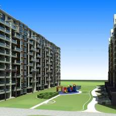 Architecture 692 multilayer Residential Building 3D Model