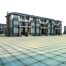 Architecture 708 multilayer Residential Building 3D Model