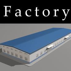 Architecture 710 Factory Building 3D Model