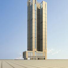 Architecture 712 Skyscraper Building 3D Model