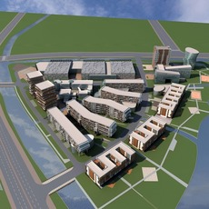 Architecture 726 office Building 3D Model