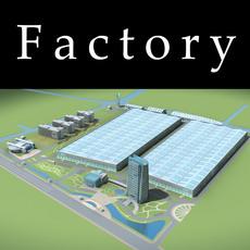 Architecture 760 Factory Building 3D Model