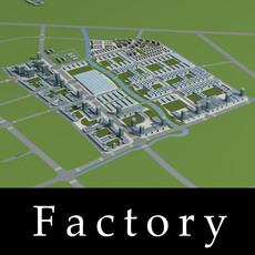 Architecture 780 Factory Building 3D Model