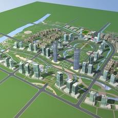Architecture 781 City block Building 3D Model