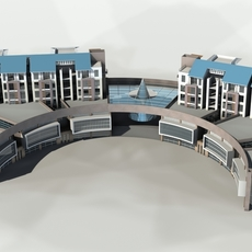 Architecture 793 multilayer Residential Building 3D Model
