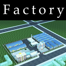 Architecture 800 Factory Building 3D Model