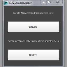 AOVsArnoldMasker for Maya 1.0.0 (maya script)