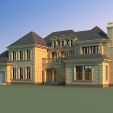 Architecture 817 VIlla Building 3D Model