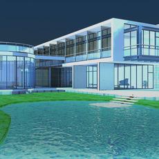 Architecture 828 VIlla Building 3D Model