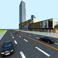 Architecture 862 Skyscraper Building 3D Model