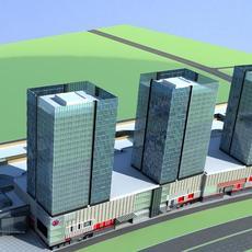 Architecture 885 Skyscraper Building 3D Model