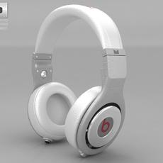 Beats by Dr. Dre Pro White 3D Model