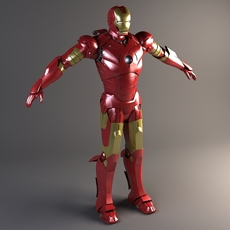 Iron Man Rigged 3D Model