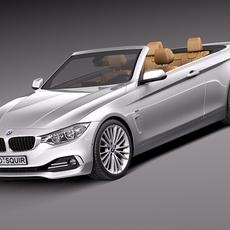 BMW 4 convertible F33 2014 3D Model
