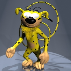 Marsupilami Character RIGGED 3D Model