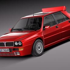 Lancia Delta HF Integrale Stock 3D Model