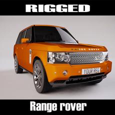 Range Rover Rigged 3D Model
