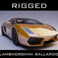 lamborghini gallardo rigged 3D Model