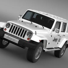 Jeep Wrangler Electric Vehicle Concept 3D Model