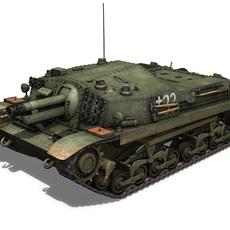 43M Zrinyi II - Hungarian Assault Gun - 3rd Battery 33 3D Model