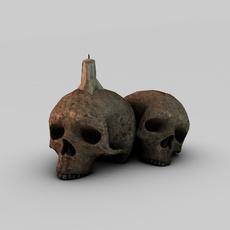 Skull candle 3D Model