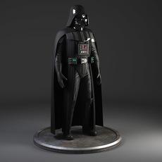 StarWars Darth Vader Rigged 3D Model