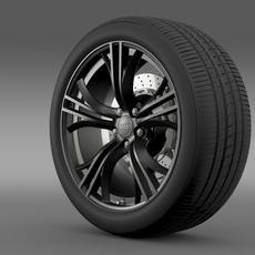 Audi R8 V10 plus 2013 wheel 3D Model
