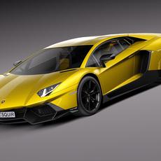 Lamborghini Aventador LP720-4 50th Anniversary 2013 3D Model