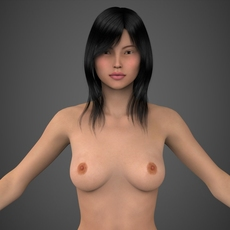 Realistic Beautiful Girl 3D Model